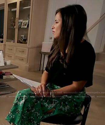 Kaylee Hartung's green floral skirt on Good Morning America