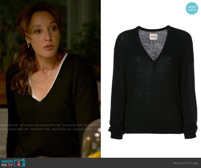 Khaite Cashmere V-neck Jumper worn by Bette Porter (Jennifer Beals) on The L Word Generation Q