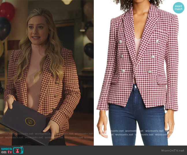 Begonia Jacquard Sweater by Kate Spade worn by Betty Cooper (Lili Reinhart) on Riverdale