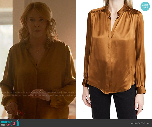 L'Agence Bianca Blouse worn by Tina on The L Word Generation Q