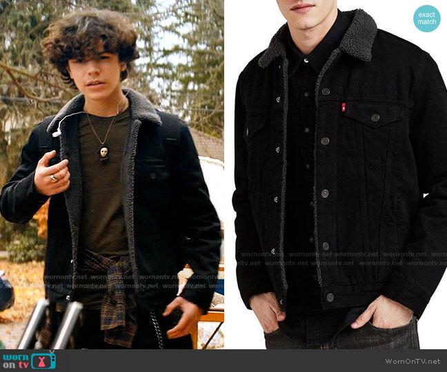 Levis Sherpa Trucker Jacket worn by Jake Wheeler (Zackary Arthur) on Chucky