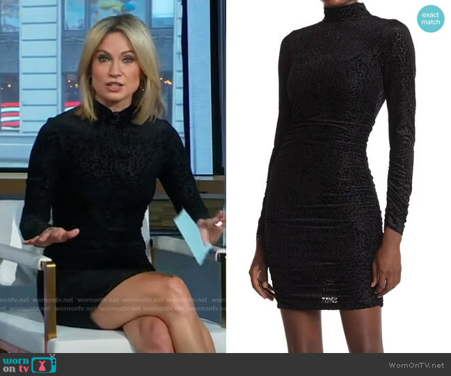 Wylie Leopard Burnout Velvet Mini Dress by Likely worn by Amy Robach  on Good Morning America