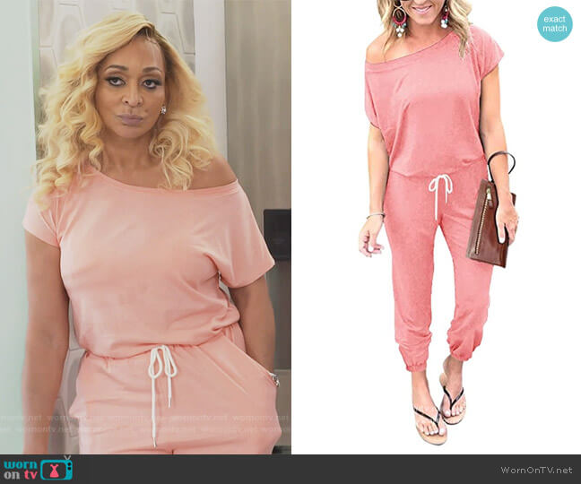 Summer Jumpsuit by Lillusory worn by Karen Huger  on The Real Housewives of Potomac
