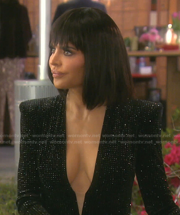 Kyle's black sequin mini dress on The Real Housewives of Beverly Hills