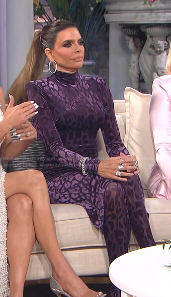 Sutton's blue strapless dress on The Real Housewives of Beverly Hills