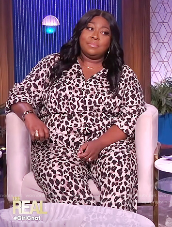 Loni's leopard print jumpsuit on The Real