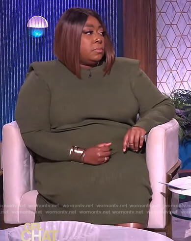 Loni's green knit dress on The Real