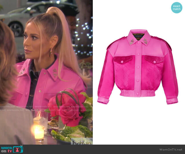 Printed Bi-Material Quilted Jacket by Louis Vuitton worn by Dorit Kemsley  on The Real Housewives of Beverly Hills