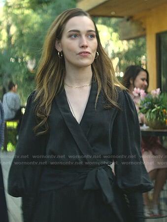Love's black wrap mini dress on You