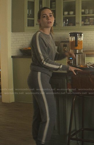 Love's grey side stripe sweater and pants on You