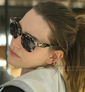 Love's black and pink sunglasses on You