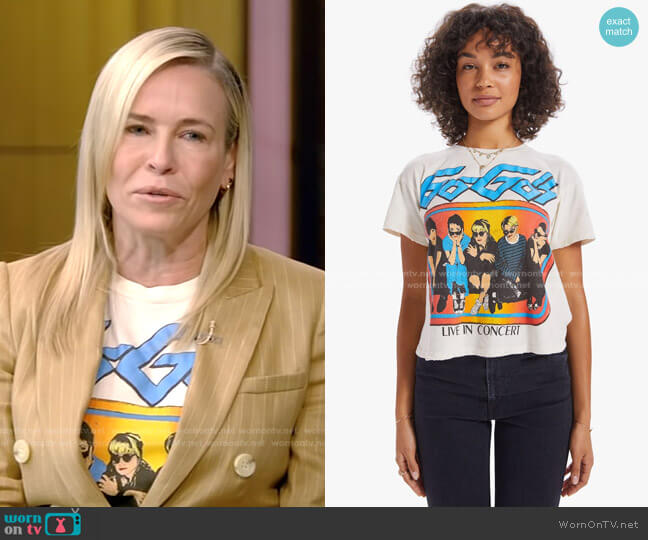 The Go Go's Cropped Tee by Madeworn worn by Chelsea Handler on Live with Kelly and Ryan