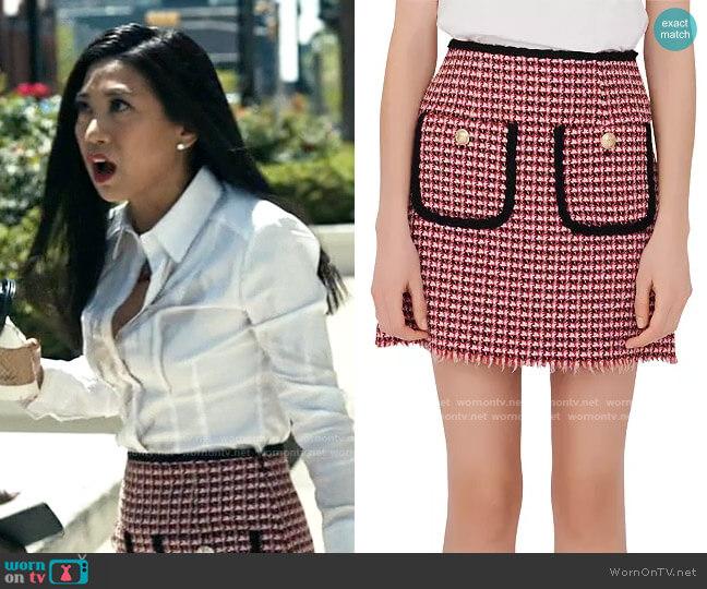 Maje Jenalt Skirt worn by Melody Bayani (Liza Lapira) on The Equalizer