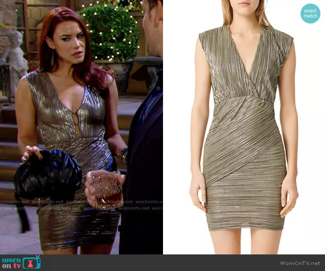 Maje Romea Dress worn by Sally Spectra (Courtney Hope) on The Young & the Restless