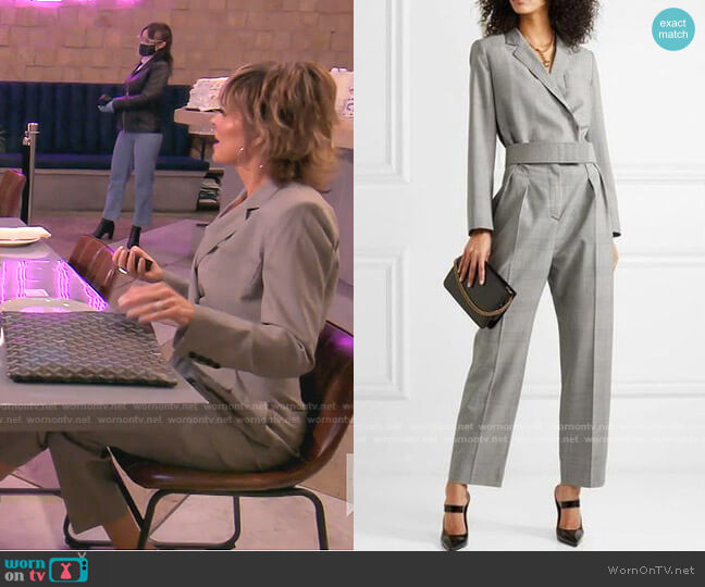 Prince of Wales Checked Jumpsuit by Max Mara worn by Lisa Rinna  on The Real Housewives of Beverly Hills
