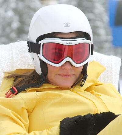 Meredith's white helmet and goggles on The Real Housewives of Salt Lake City