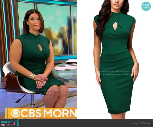 Miusol Slim Style Work Pencil Dress worn by Dana Jacobson  on CBS Mornings
