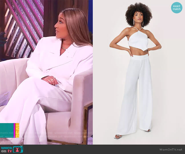 High Waisted Wide Leg Pants by Nasty Gal worn by Adrienne Houghton  on The Real