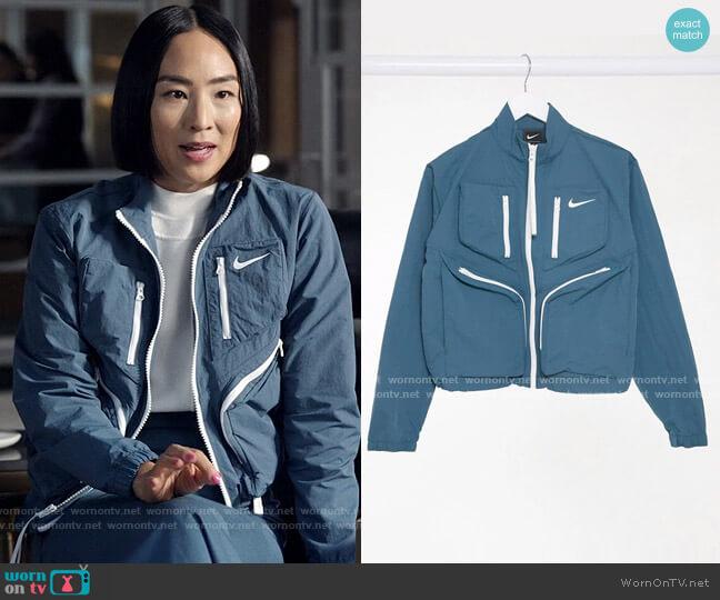 Nike Tech Pack Jacket worn by Stella Bak (Greta Lee) on The Morning Show