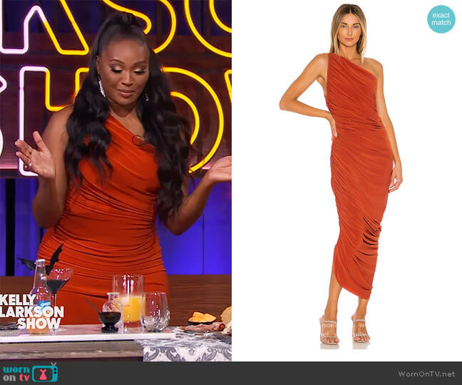 Diana Gown by Norma Kamali worn by Cynthia Bailey on The Kelly Clarkson Show