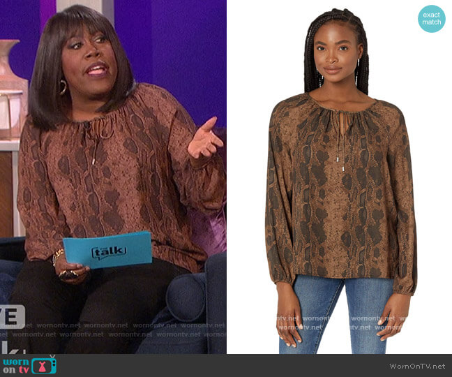 Peasant Blouse by NYDJ worn by Sheryl Underwood  on The Talk