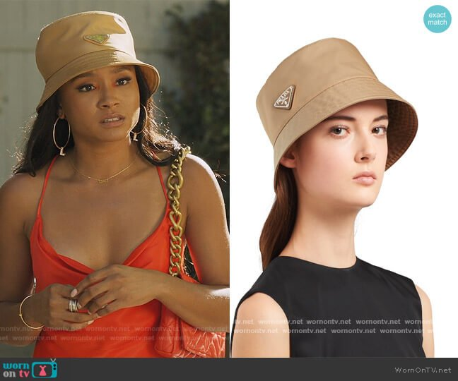 Re-Nylon Bucket Hat by Prada worn by Lauren Dupont (Rhyon Nicole Brown) on Our Kind of People
