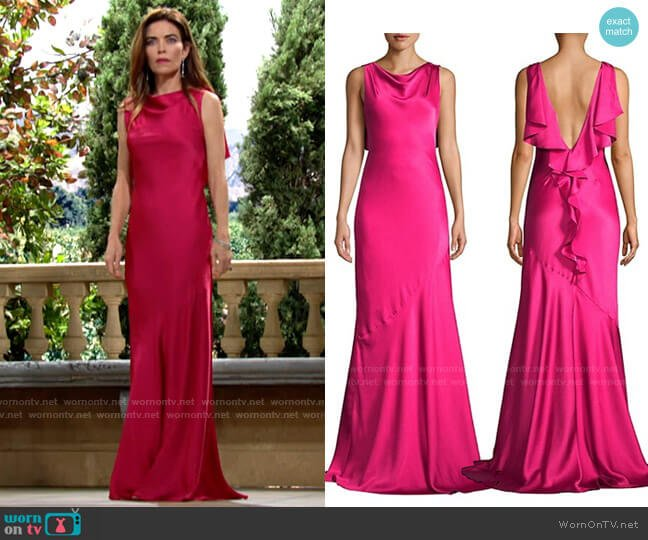 Rachel Zoe Ami Gown worn by Victoria Newman (Amelia Heinle) on The Young & the Restless