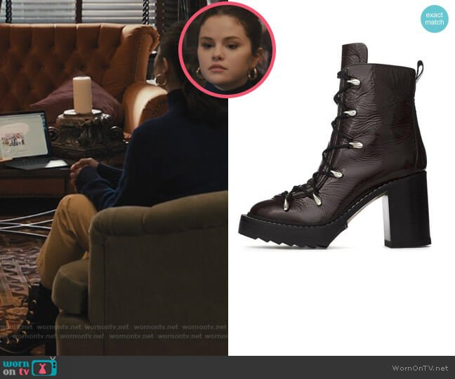 Sanne Boots by Rag and Bone worn by Mabel Mora (Selena Gomez) on Only Murders in the Building