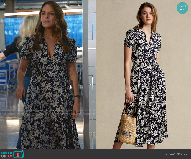 Floral A-Line Dress by Polo Ralph Lauren worn by Isabella Colón (Yara Martinez) on Bull