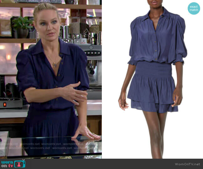 Ramy Brook Royce Dress worn by Sharon Collins (Sharon Case) on The Young & the Restless