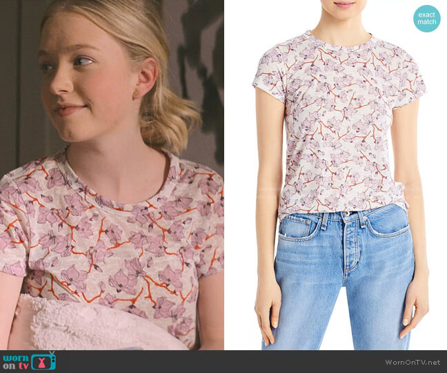 Lily Vine Print Tee by Rag & Bone worn by Stacey McGill (Shay Rudolph) on The Baby-Sitters Club
