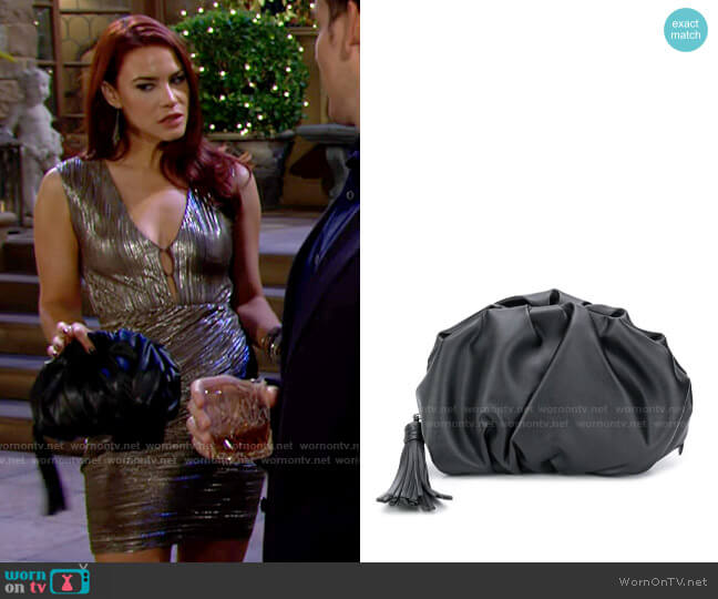 Rebecca Minkoff Ruched Clutch worn by Sally Spectra (Courtney Hope) on The Young & the Restless