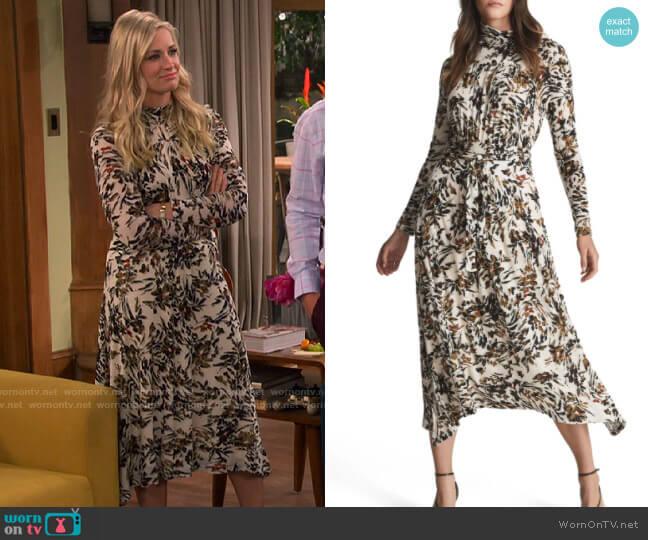 Reiss Bobby Dress worn by Gemma (Beth Behrs) on The Neighborhood
