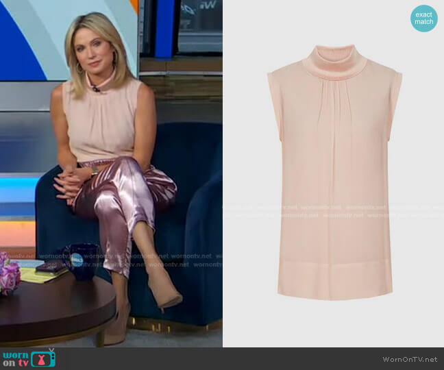 Gilda Top by Reiss worn by Amy Robach  on Good Morning America