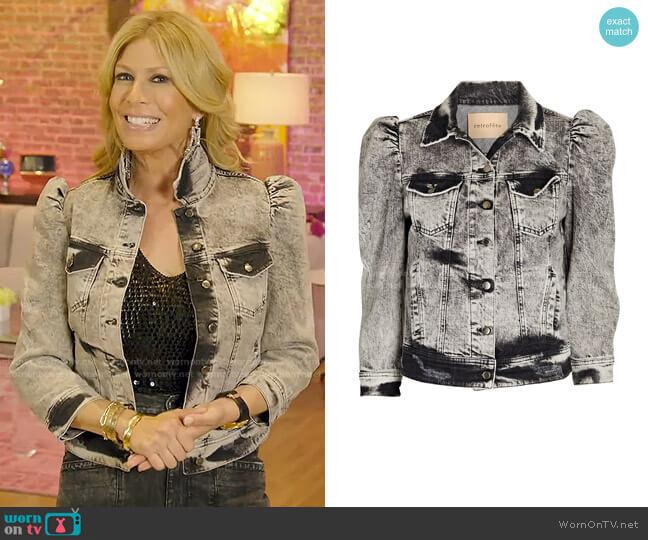 Ada Cropped Denim Jacket by Retrofete worn by Jill Martin  on Today