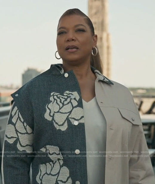 Robyn's camo skull print sweater on The Equalizer