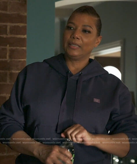 Robyn's purple face hoodie on The Equalizer