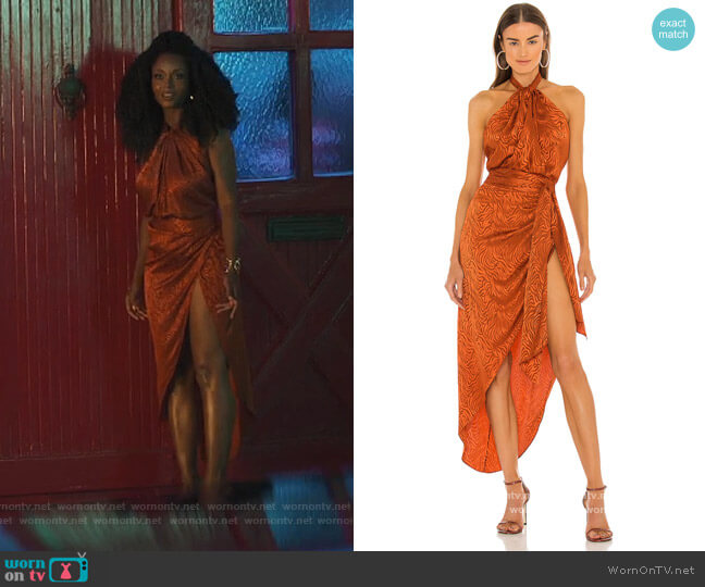 June Top and Skirt by Ronny Kobo worn by Angela Vaughn (Yaya DaCosta) on Our Kind of People