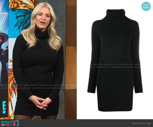 Turtleneck Knitted Jumper Dress by Saint Laurent worn by Morgan Stewart  on E! News