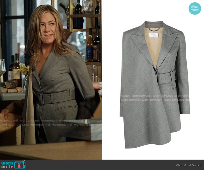 Salvatore Ferragamo Scarf Panel Blazer worn by Alex Levy (Jennifer Aniston) on The Morning Show