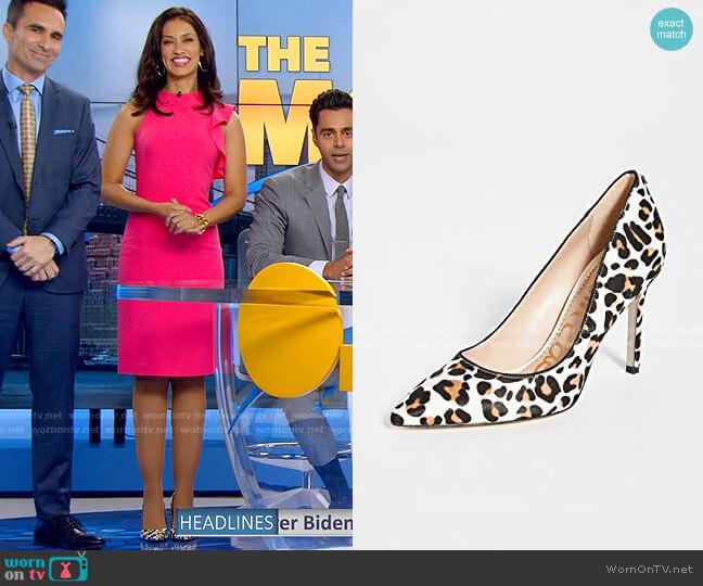 Sam Edelman Hazel Leopard Pumps worn by Alison Namazi (Janina Gavankar) on The Morning Show