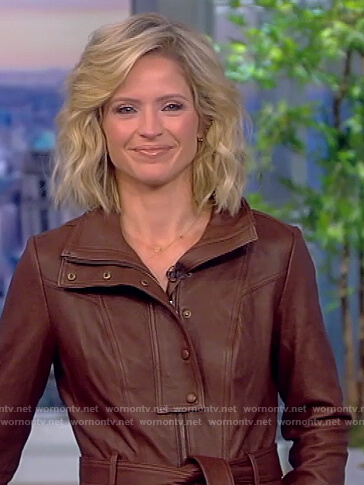 Meghan's brown leather jumpsuit on The View