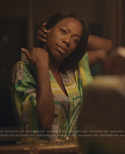 Molly's baroque printed robe on Insecure