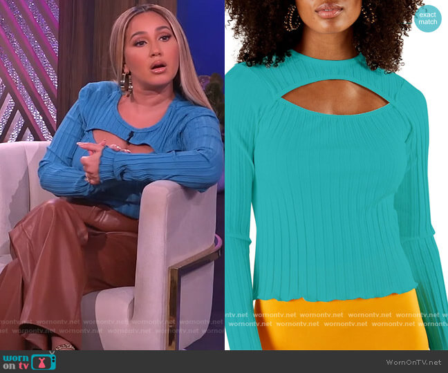 Kai Cutout Top by Simon Miller worn by Adrienne Houghton  on The Real