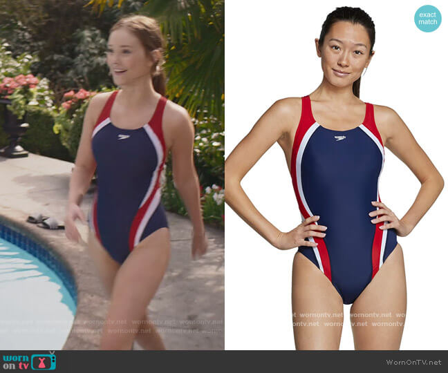 Quantum Swimsuit by Speedo worn by Kristy Thomas (Sophie Grace) on The Baby-Sitters Club
