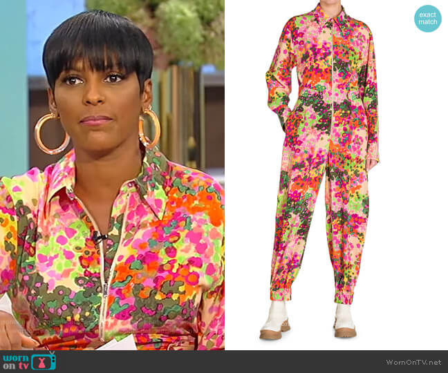 Mina Floral Jumpsuit by Stella McCartney worn by Tamron Hall  on Tamron Hall Show