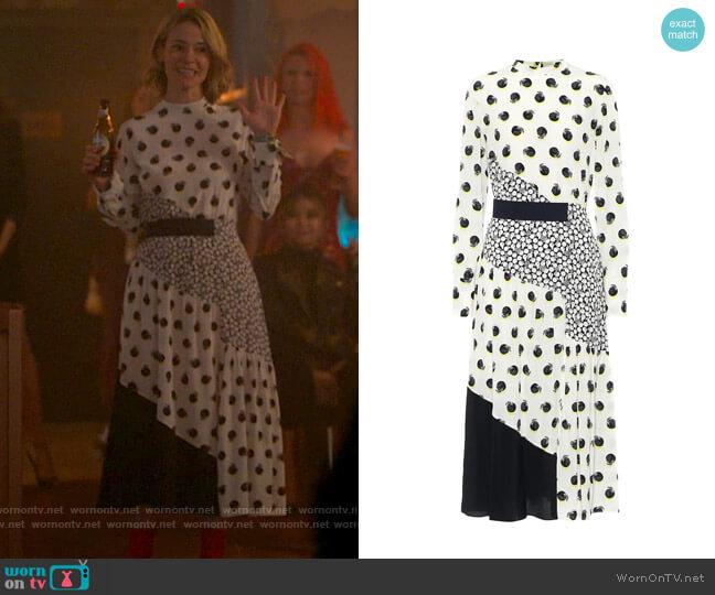 Stella McCartney Printed silk midi dress worn by Alice Pieszecki (Leisha Hailey) on The L Word Generation Q