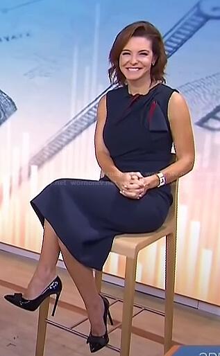 Stephanie Ruhl's navy bow detail dress on Today