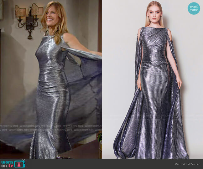 Talbot Runhof Bonoso Dress worn by Phyllis Summers (Michelle Stafford) on The Young & the Restless