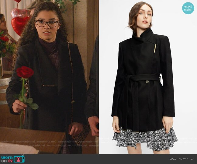 Rosess Coat by Ted Baker worn by Mary-Anne Spier (Malia Baker) on The Baby-Sitters Club